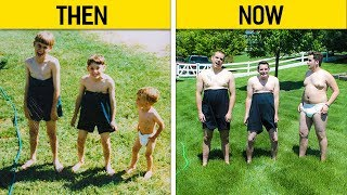 Siblings Who Hilariously Recreated Their Childhood Photos
