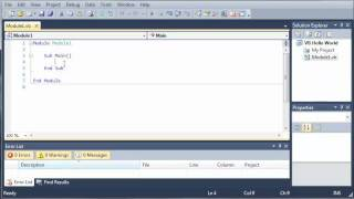 Visual Basic Tutorial - 4 - Hello World