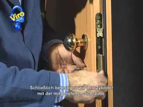 Einsteckschloss mit Serie 700 Zylinder und Sicherheitsrosette