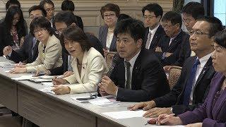 加計学園「首相案件」報道で野党6党が合同ヒアリング