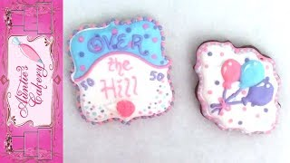 Fun 50 Yr Over The Hill Birthday Cookies