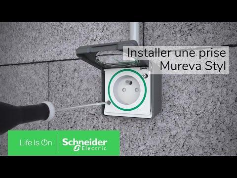 Gris Schneider Electric SC5SHN0212451 Double va et Vient Styl mureva 250 V