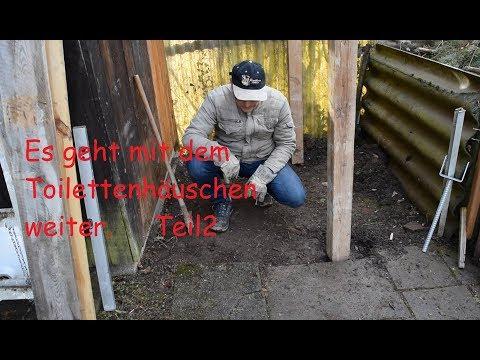 Garten Toilette selbst bauen. Teil 2