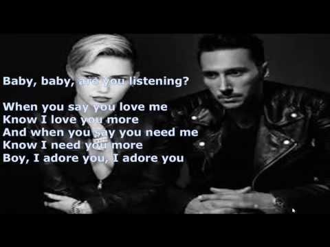 Miley Cyrus ft Cedric Gervais   Adore You Cedric Gervais Remix LYRICS