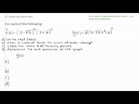 Graphing Polynomial Functions p4
