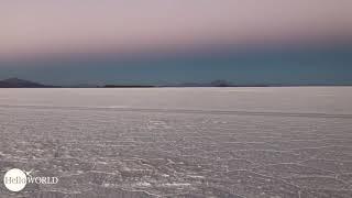 Abenteuer 100 Tage Südamerika: Am frühen Morgen in der Salar de Uyuni