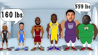 The best NBA player at every weight! (NBA Weight Comparison Animation)