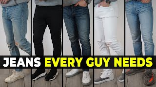 5 Types Of Jeans EVERY GUY Needs To Own | Alex Costa
