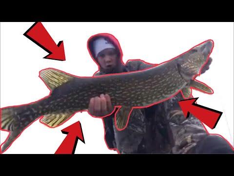Catching Giant FISH Through The ICE!! (New PB)
