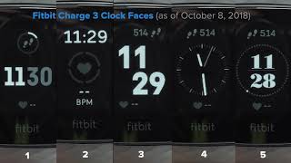 Fitbit Charge 3 Clock Faces