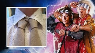 How to Tie a Back to the Future Double Necktie Knot Oct 21st 2015 Marty Mcfly Special Edition