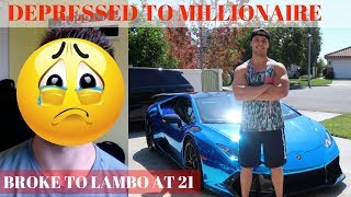 DEPRESSED & Broke To 21 Year Old MILLIONAIRE In 2 Years (My Battle With Depression)