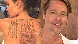 Angelina Jolie and Brad Pitt Used the Same Tattoo Ink to Symbolically Bind Them | Splash News TV