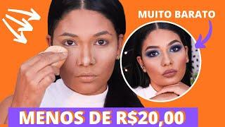 Maquiagem completa SÓ COM BARATINHOS abaixo de R$20,00!
