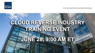 GSA Cloud Reverse Industry Training Event