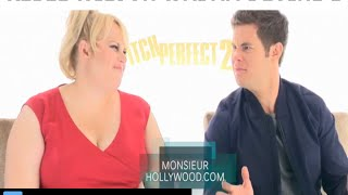 Rebel Wilson, Adam Devine, Fat Amy, interview exclusive Monsieur Hollywood, pitch perfect 2, P1