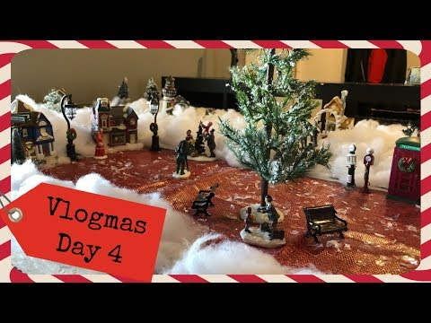 Christmas Village and Model Train | Vlogmas Day 4