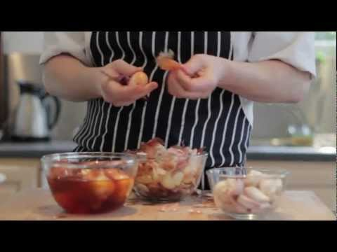 Easily Peel French Shallots By Blanching Them In Hot Water