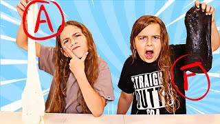 I Grade My SISTERS SLIMES Challenge!