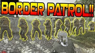 1 Vs. 17 COD 4 REMASTERED SNIPERS Vs. RUNNERS!! BORDER PATROL on MWR!!