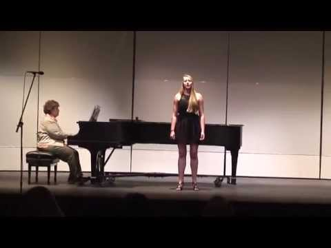 Singing Wie Melodien Zieht Es Mir by Brahms for recital at Saint Mary's College