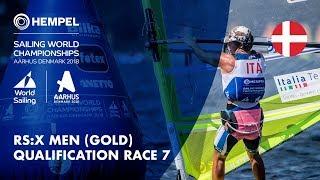 Full RS:X Men Gold Fleet Qualification Race 7 | Aarhus 2018