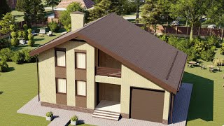 Проект дома 158-C, Площадь дома: 158 м2, Размер дома:  12,9x10,4 м