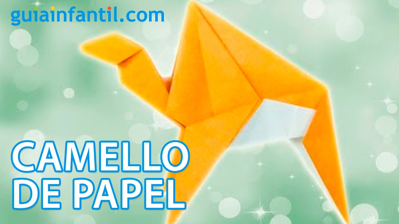 Camello de reyes magos. Origami de Navidad
