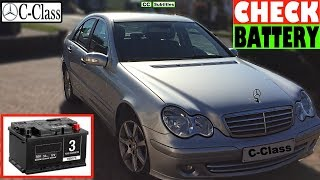 Mercedes C-Class Battery Location and How to check Battery on Mercedes C-Class
