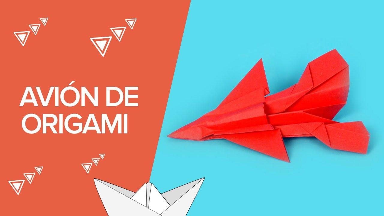 Cómo hacer un avión de caza de origami | Papiroflexia para niños