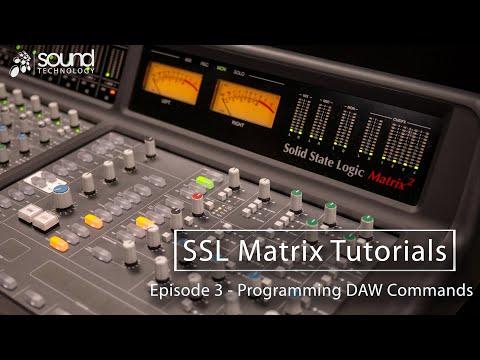 SSL Matrix Tutorials: Programming DAW Commands