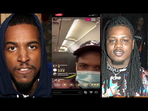 CHICAGO RAPPER LIL REESE AFTER FBG DUCK KILLED RUNS TO AIRPORT LA NEXT