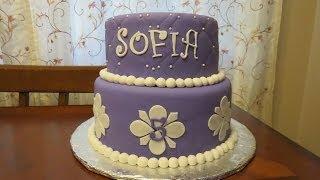 How to Decorate a Princess Sofia Fondant Cake