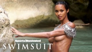Lais Ribeiro Braves Freezing Cold Water In Nothing But A Necklace | Sports Illustrated Swimsuit