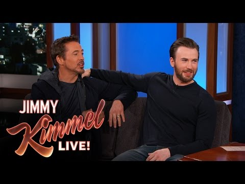 Chris Evans and Robert Downey Jr. Are Friends in Real Life