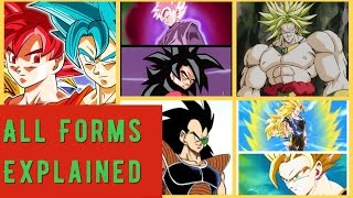ALL forms of Super Saiyan  Explained  with multipliers (DB DBZ DBS DBGT)
