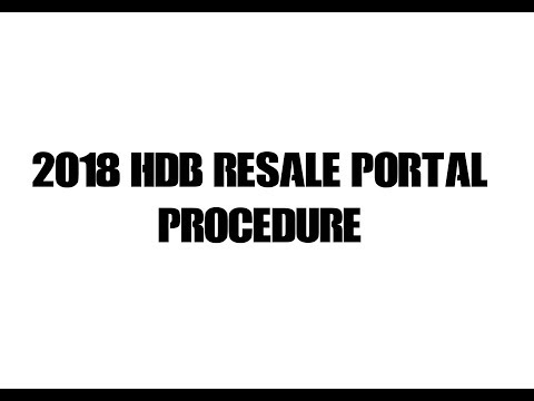 2018 NEW HDB RESALE PORTAL PROCEDURE