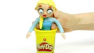 Elsa clay costume 💕Superhero Play Doh Stop motion cartoons