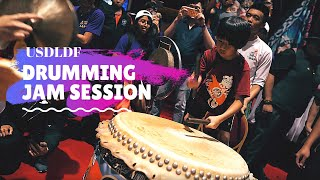 9yr old Tyler jam session at the USDLDF 2019 // Lion dance drumming