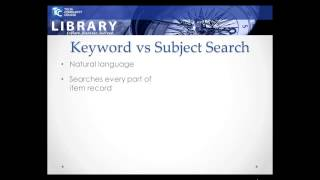 Subject Searching @ the TCC Library