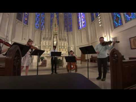 Mozart Clarinet Quintet Adagio. I am on the very left hand side of the video frame.