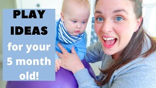 How to Play with a 5 MONTH OLD Baby! Play activities for 5 month old development.