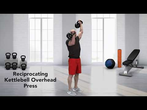 How to do a Reciprocating Kettlebell Overhead Press - YouTube
