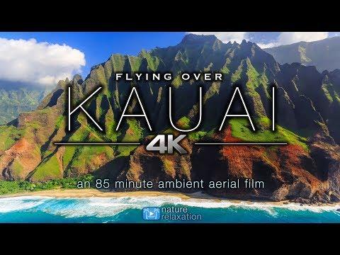 Всё духовное — FLYING OVER KAUAI (4K UHD) *NEW* 1 5 HR