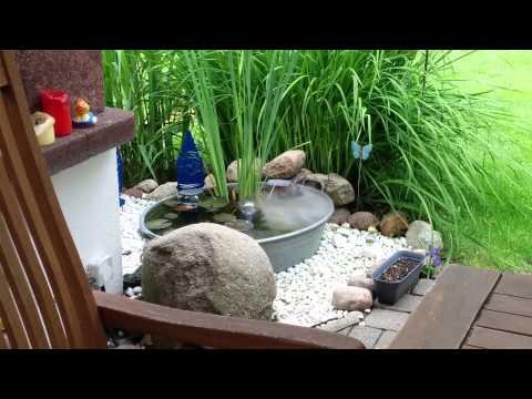 Miniteich by ebike.community Terrassenteich Teichnebler Teich Zinkwanne GartenIdeen Balkon