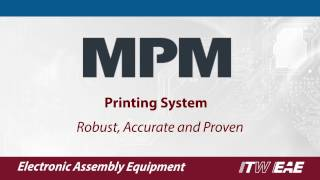 MPM Printers for Electronic Assembly