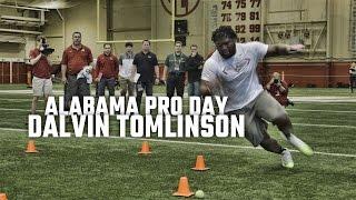 Watch Dalvin Tomlinson at Alabama Pro Day