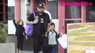<b>Joel Madden</b> Takes His Kids Harlow & Sparrow Shopping At Crystalarium Ahead Of Mothers Day 5716