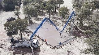 Pouring concrete in freezing temperatures in Texas - Episode 57 Texas Barndominiums