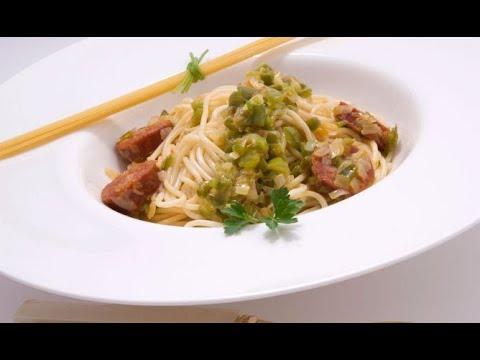 Receta de espaguetis con chorizo - Karlos Arguiñano